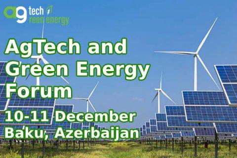 Azərbaycanda aqrar texnologiyalar və yaşıl enerji üzrə Beynəlxalq Forum keçiriləcək