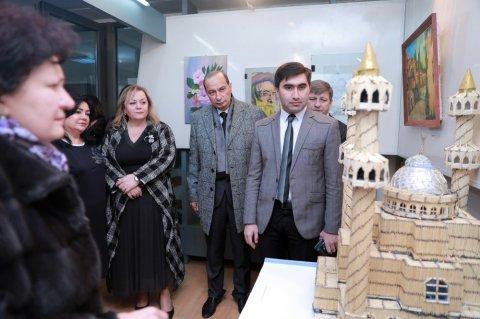 Azərbaycan Memarlıq və İnşaat Universitetində tələbələrin yaradıcılıq sərgisi açılıb
