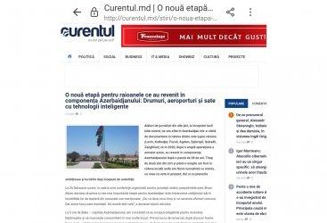 Moldovanın nüfuzlu xəbər portalları Qarabağdan xüsusi reportajlar hazırlayıb