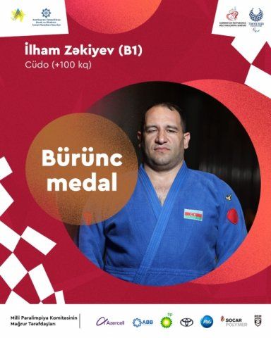 İlham Zəkiyev dördüncü Paralimpiya medalını qazanıb